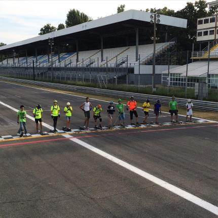 airone.thp.tnbThis year I organized the first ever unofficial long distance skateboarding race at Autodromo Nazionale Monza, July 2015